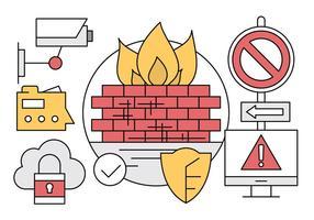 Icone di sicurezza del computer vettore