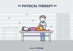Fisioterapista Vector Illustration