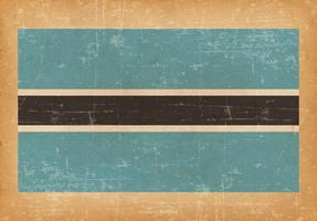 Bandiera del grunge del Botswana