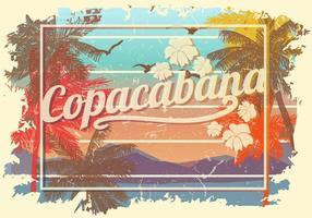 Poster vintage grunge di Copacabana vettore