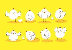 Vettore del pulcino dell'uovo di Pasqua