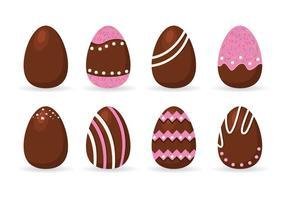 Vettore delle uova di Pasqua del cioccolato fondente