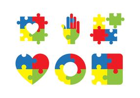 icona di consapevolezza di autismo vettore