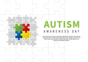 Poster di puzzle di consapevolezza di autismo vettore