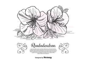 Sfondo vettoriale di rododendro