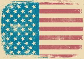 Priorità bassa patriottica di stile americano del grunge vettore