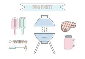 vettore di festa barbecue