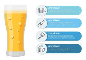Birra infografica vettoriale