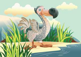 vettore del carattere del fumetto dell'uccello del dodo
