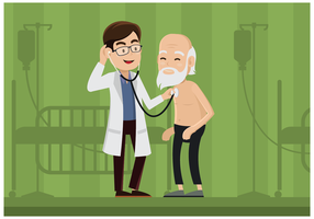 Vettore gratuito dell'illustrazione del fisioterapista