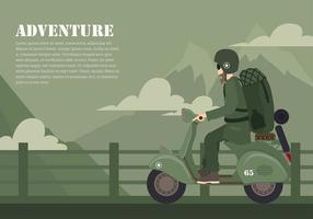 vettore libero di avventura dello scooter