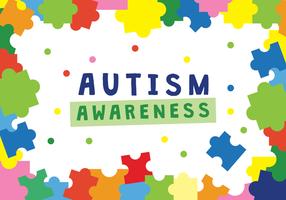 Vettore del manifesto di consapevolezza di autismo
