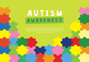 Illustrazione di vettore del manifesto di consapevolezza di autismo