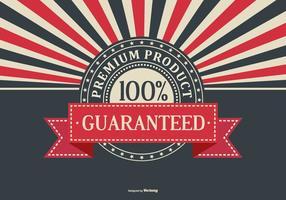 Retro priorità bassa promozionale del prodotto