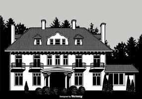 disegno vettoriale coloniale mansion