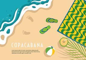 Vettore del fondo della spiaggia di Copacabana