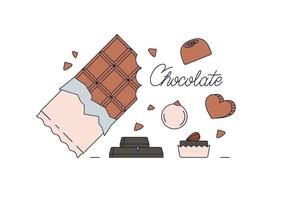 Vettore di cioccolato gratis
