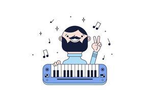 Vettore libero del pianista