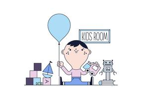 Kid Room Vector gratuito