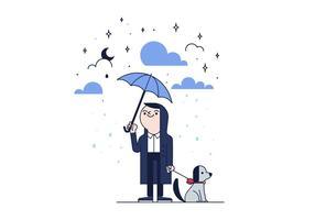 Vettore gratuito di pioggia