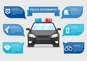 Polizia infografica vettoriale