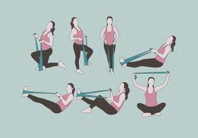 Fisioterapista donne vettoriale