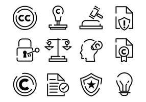 Copyright icone vettoriali gratis