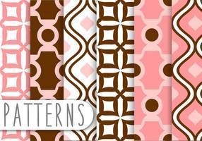 set di pattern decorativi in corallo polveroso vettore