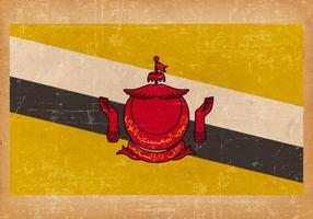 Bandiera del Brunei su sfondo grunge