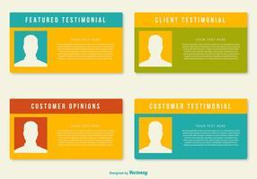 Modelli di testimonianze del cliente vettore