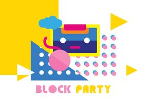 Wallpaper di Block Party Vector