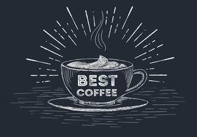 Illustrazione disegnata a mano della tazza di caffè di vettore