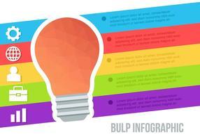 Vettore di infografica bulbo low poly gratuito