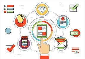 Icone di design piatto vettoriali gratis