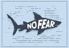 Illustrazione di sagoma squalo vettoriale con tipografia