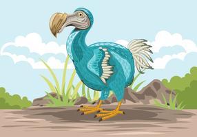 Dodo carino illustrazione di uccelli vettore