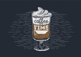 Illustrazione disegnata a mano libera di vettore Espresso