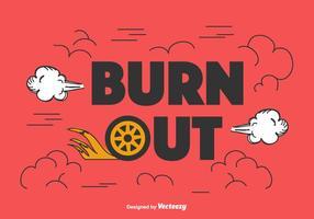 sfondo vettoriale di burnout