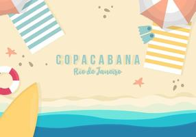 Sfondo di Copacabana vettore