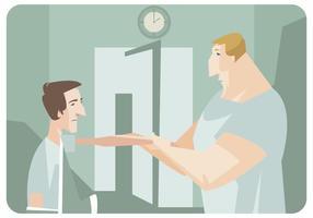 Vettore di terapia mano ottenere paziente