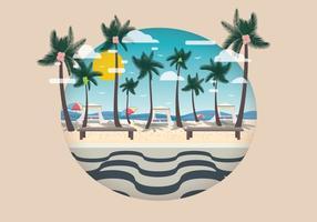 Copacabana con il vettore dell'albero di noce di cocco