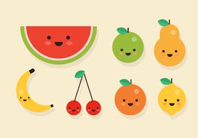 Vettore di frutta sorridente gratis