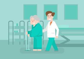 Illustrazione di fisioterapista vettore
