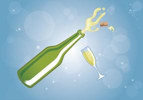 vettore di celebrazione di champagne