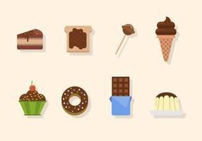 Vettori di cioccolato piatto