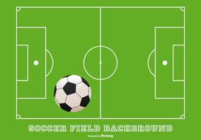 Sfondo del campo di calcio vettore