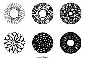 Collezione astratta forma cerchio vettore