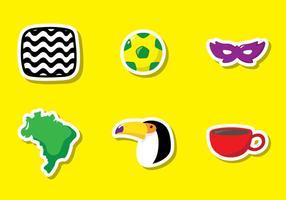Icona di vettore del Brasile