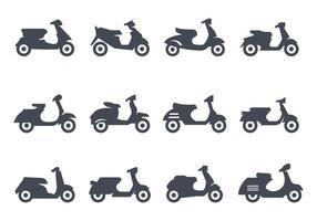 vettore di icone di scooter