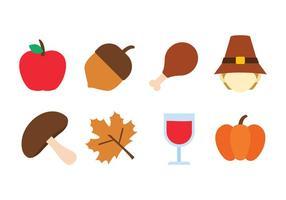 Set di icone del ringraziamento